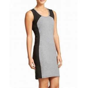 Athleta Black & Gray Fuse Dress, Size Large